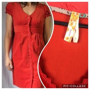 Anthropologie size 6 corduroy dress